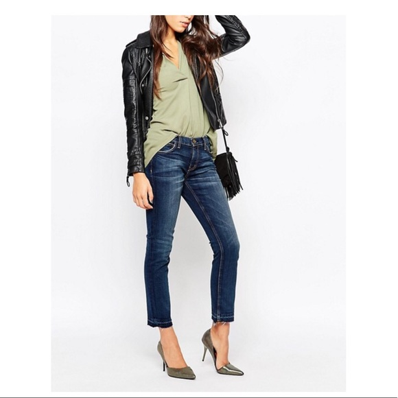 Current//Elliott Womens The Seamed Easy Stiletto Jeans Washed Black 28